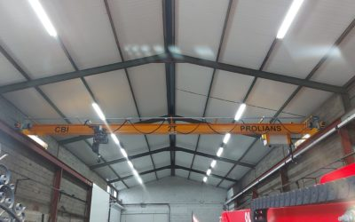 Fourniture et installation d'un pont roulant monopoutre 2T